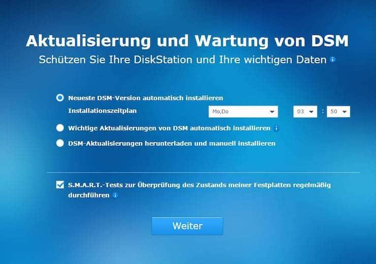 Synology DSM Aktualisierung