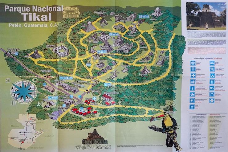 Tikal Karte
