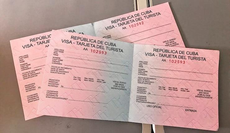 USA Touristenkarte Kuba