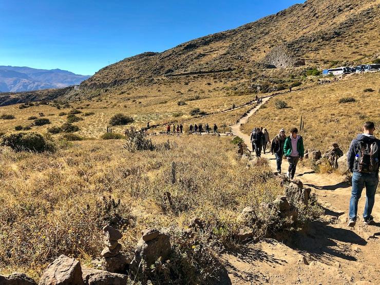 Weg zum Cruz del Condor
