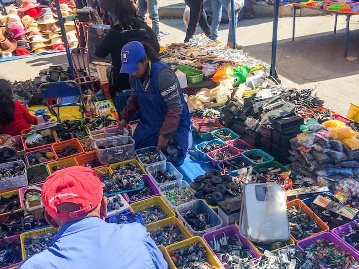 Warenauswahl Feria del Alto