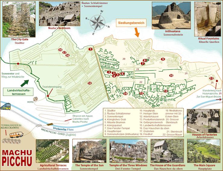 Machu Picchu Karte