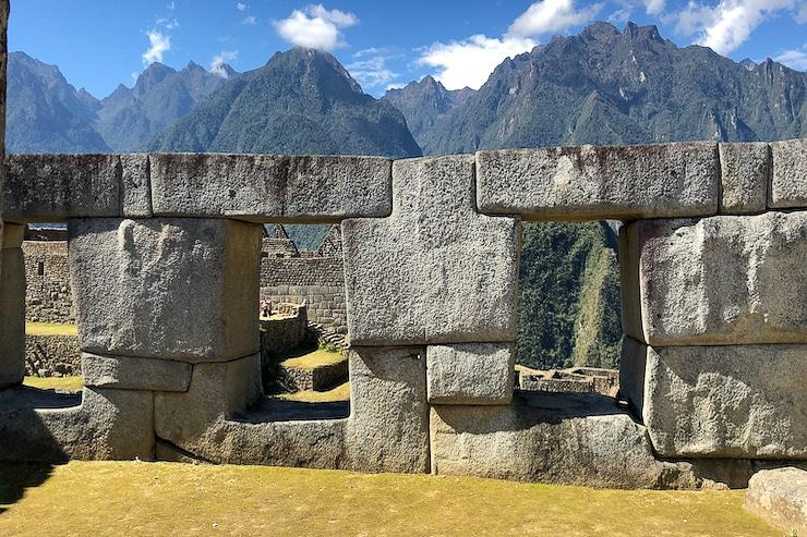 Machu Picchu steinerne Hausmauer