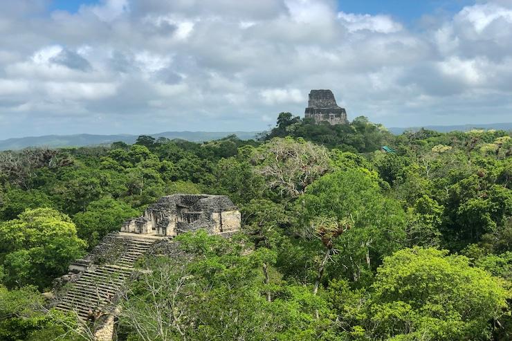 Maya Pyramiden in Tikal Guatemala