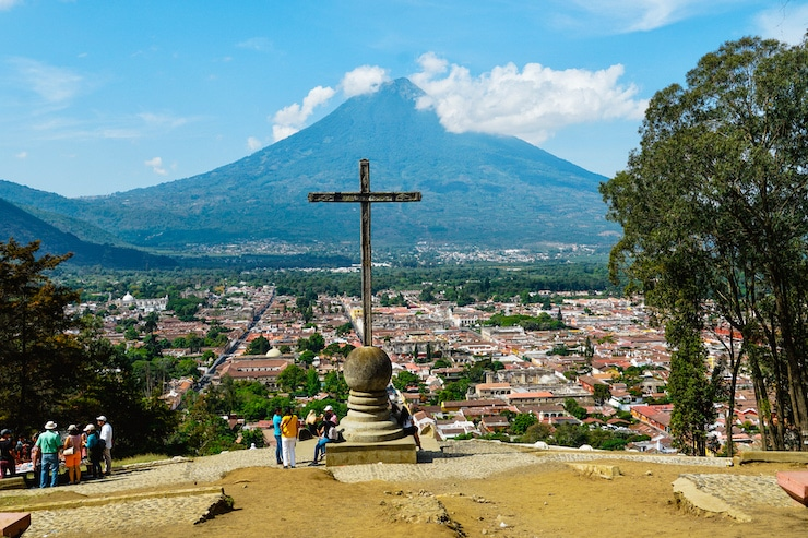 Ausblick am Cerro de la Cruz in Antigua Guatemala