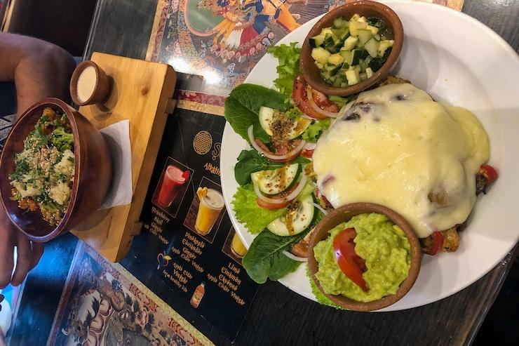 Essen im Restaurant Samsara