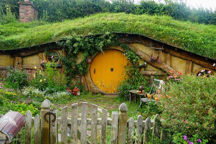 Typische Hobbit Hütte