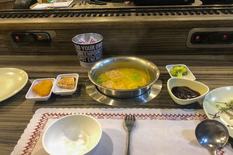 Hot Pot Essen im Restaurant