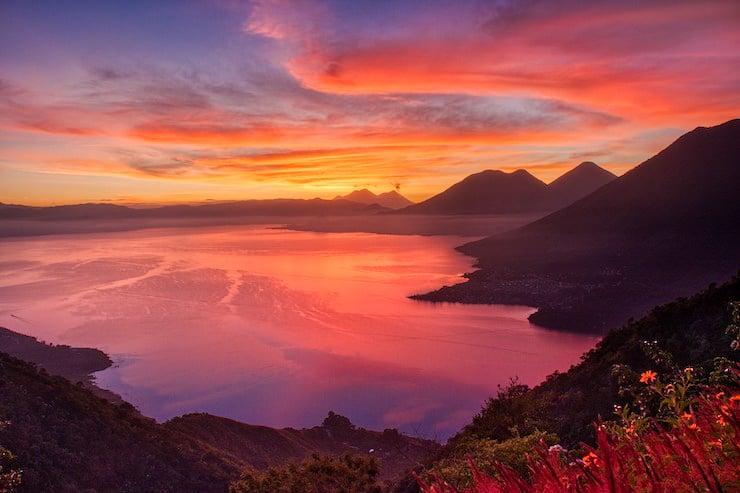 Highlight Indian Nose in Guatemala bei Sonnenaufgang